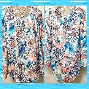 🔥Final Woman M Boho Hippie Style Sheer Tunic Top